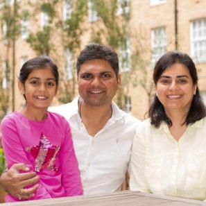 Member Manisha from India with family