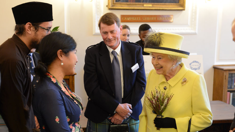 Her Majesty Queen Elizabeth the second visiting Goodenough College in 2016