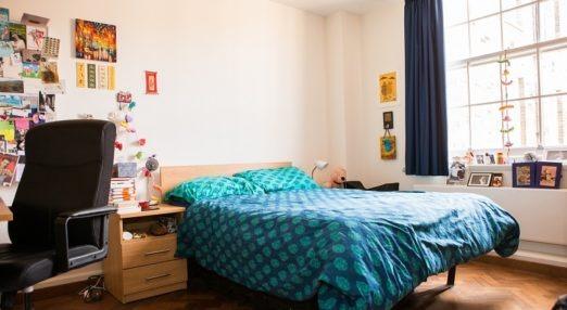 Typical double room with en suite bathroom