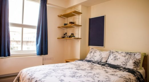 Goodenough College one bedroom flat - bedroom