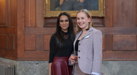 Two staff members at Goodenough College