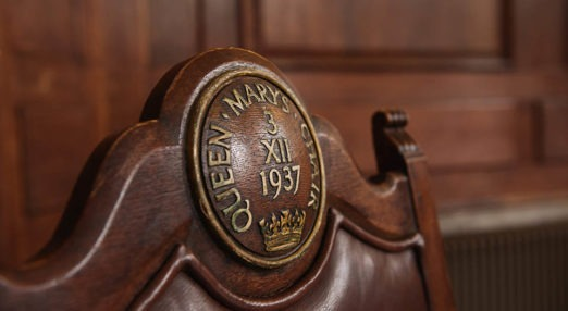Queen Mary's wooden chair from 1937