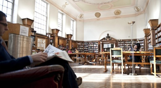 The library in London House at Goodenough College