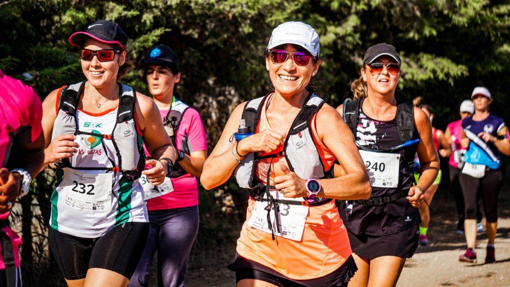 Group of women running a marathon