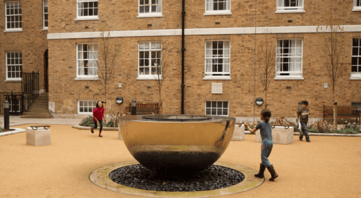 William Goodenough House Quad with kids